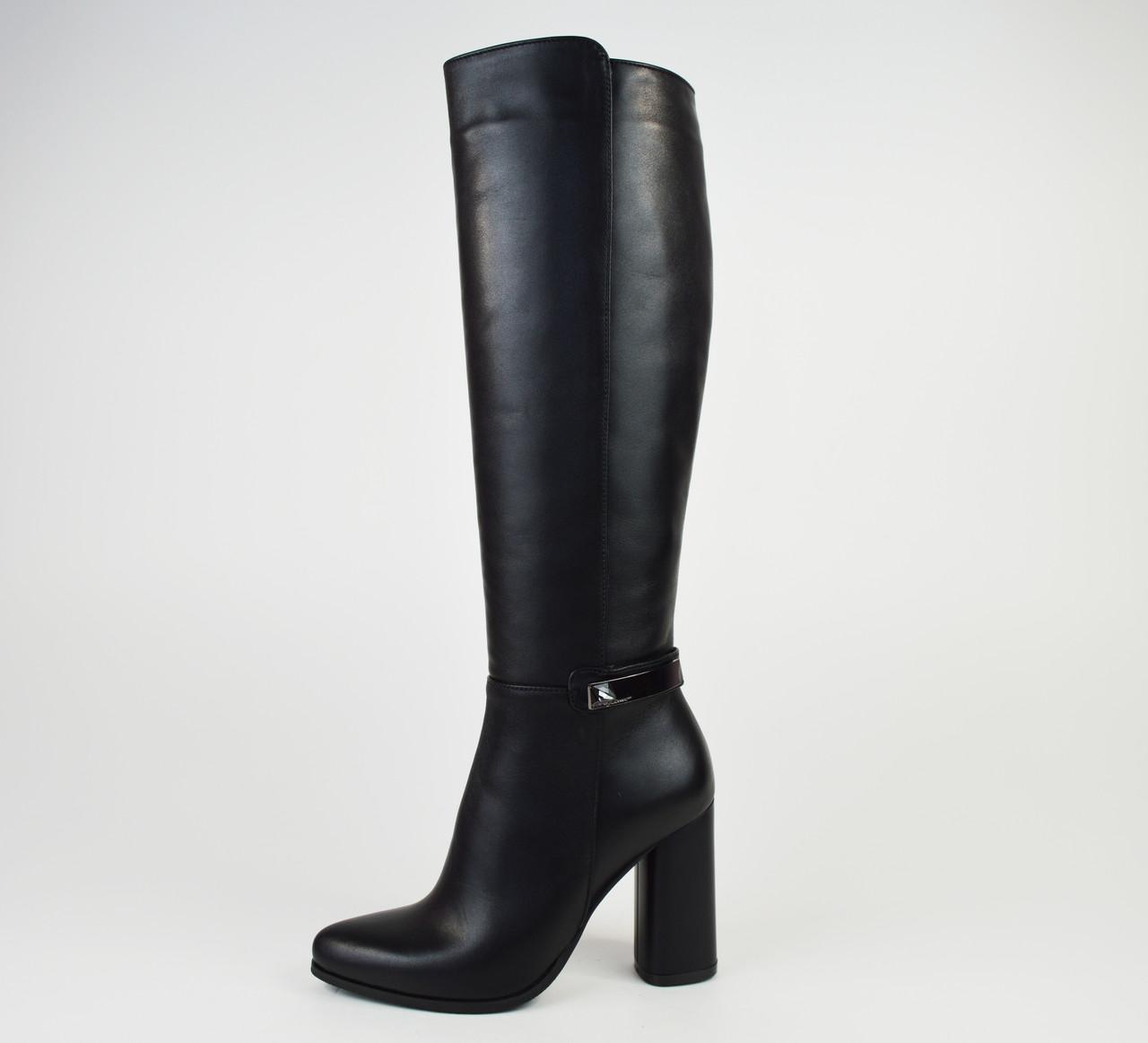 Сапоги кожаные на высоком каблуке Nivelle 5558