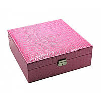 Шкатулка для бижутерии розовая 25770