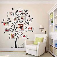 """Интерьерная наклейка """"Семейное дерево"""" на стену (120х100см). Наклейка под фоторамки."""