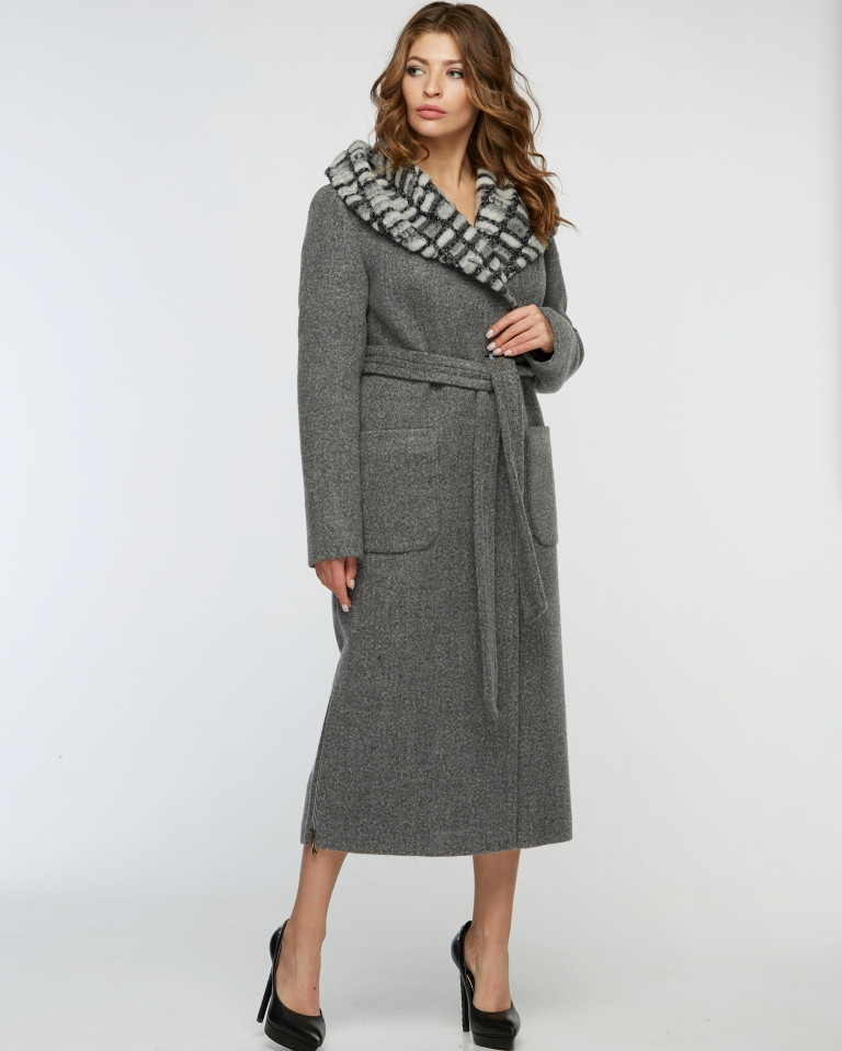 Женское пальто зимнее макси