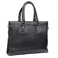 Сумка-портфель мужская для документов А4 DR. Bond A132-3 черная кожзаменитель на две ручки 38х29х7см
