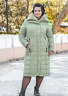 / Размер 50,52,54 / Женское теплое зимнее пальто больших размеров