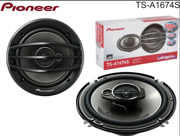 Автоколонки Пионер TS 1674, колонки в машину, автомобильные колонки 16,5 см, автоакустика, динамики в авто