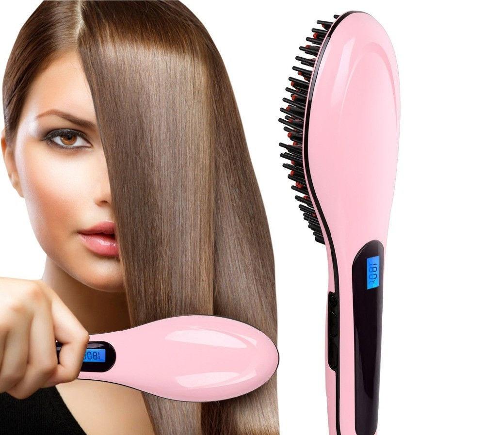 Электрическая расческа выпрямитель FAST HAIR STRAIGHTENER HQT-906 выравнивание волос расческой