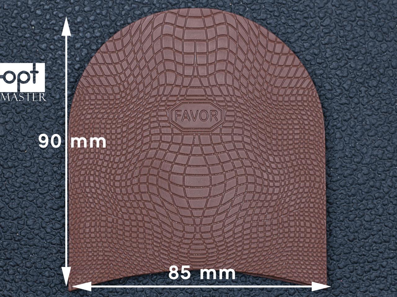 Набойка резиновая FAVOR-рептилия, т. 6.6 мм, р.средний, цв. светло-коричневый (6)