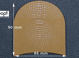 Набойка резиновая FAVOR-рептилия, т. 6.6 мм, р.средний, цв. светло-коричневый (5)