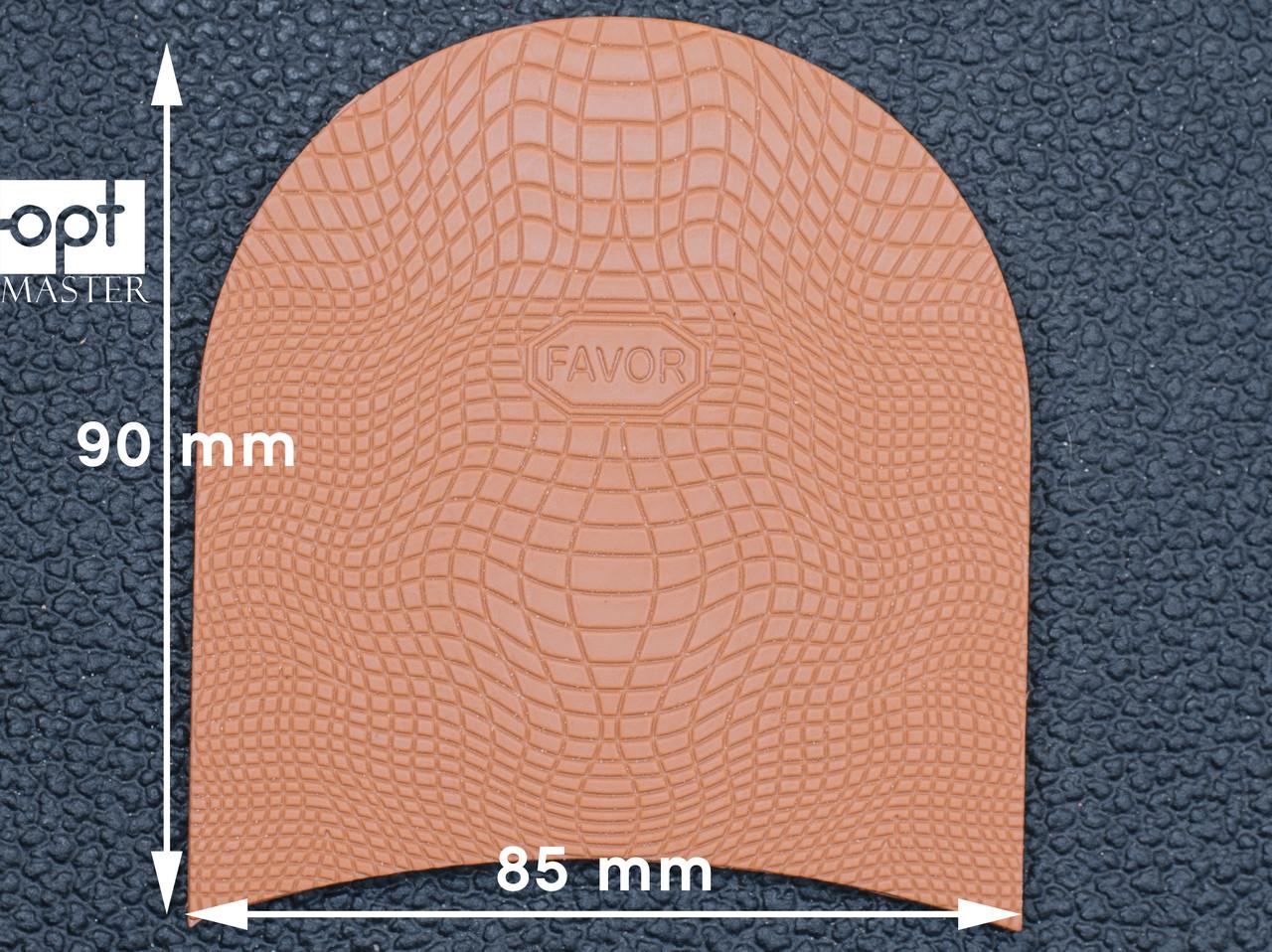 Набойка резиновая FAVOR-рептилия, т. 6.6 мм, р.средний, цв. бежевый (13)