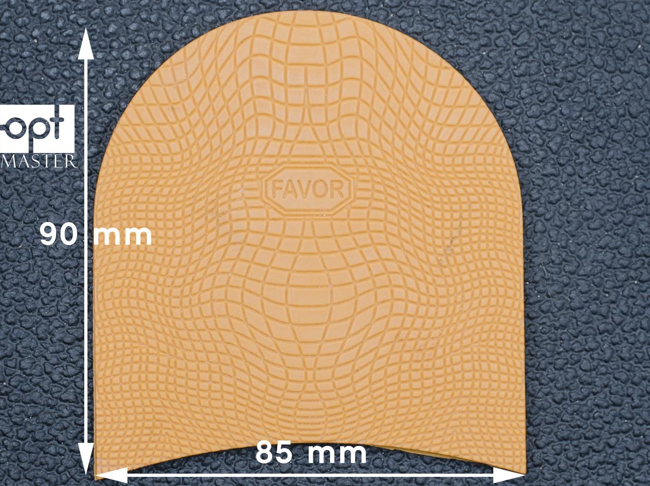 Набойка резиновая FAVOR-рептилия, т. 6.6 мм, р.средний, цв. бежевый (12)