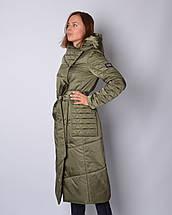 Женский пуховик атласный, фото 2