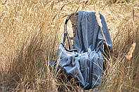 Вязаное покрывало Комильфо серый 150х170 OS-076