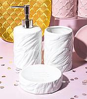 Набор для ванной Белые перья 940-228