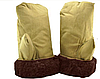 Рукавицы варежки армейские овчина коричневый мехперчатки на рыбалку и охоту