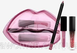 Стойкие помады + карандаш для губ Huda Beauty Matte & Cream Lip Set SHEIKHA/TROPHY WIFE