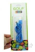 USB кабель GOLF Rainbow Series micro-USB Cable Blue