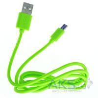 USB кабель GOLF Rainbow Series micro-USB Cable Green