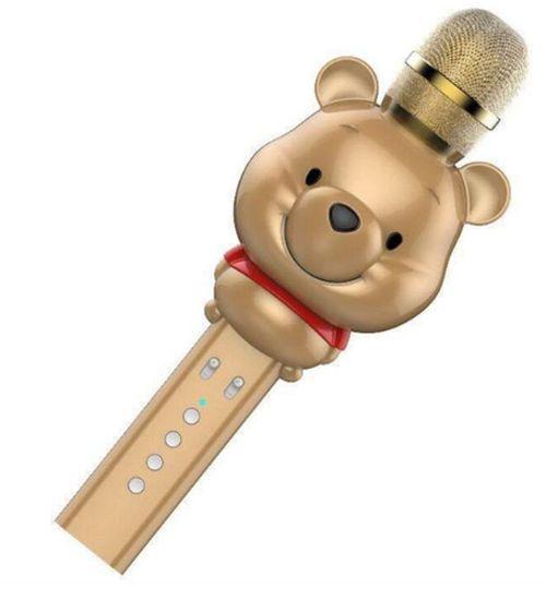 Караоке-микрофон портативный U70 Винни Пух. Bluetooth караоке микрофон Медведь Золото