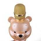 Караоке-микрофон портативный U70 Винни Пух. Bluetooth караоке микрофон Медведь Золото, фото 3