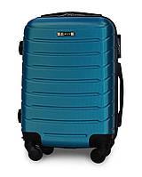 Мини чемодан 49х33х20 Ручная кладь на 4 колесах Fly 1107 Синий