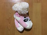 Тёплые меховые детские носочки с  силиконовым вставками на  подошве . Размеры 0-12 мес., 12-24 мес