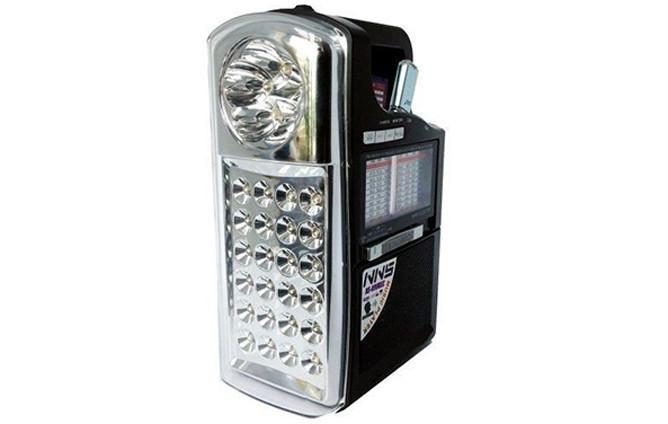 Фонарь радио, радио фонарь NS 040, ФМ приемник с фонарем, светодиодный фонарь с радио, радиоприемник с фонарем, фото 1
