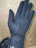 Трикотаж КАШЕМИР женские перчатки Эластичный Выбор моделей случайный (только ОПТ), фото 2