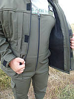 Демисезонный костюм SOFTSHELL полукомбенизон    Хаки