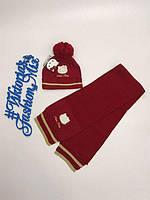 Комплект шапка +шарфик для девочки Hello Kitty от Original Marines 46/48