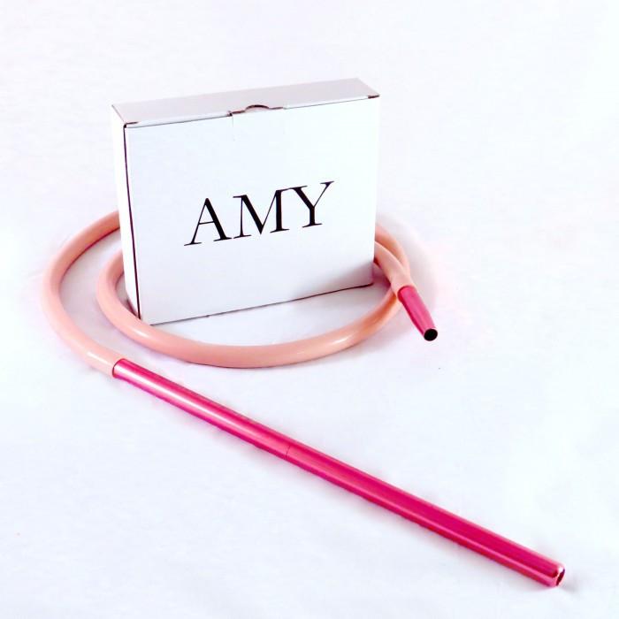 Шланг Amy DeLuxe силиконовый с алюминиевым мундштуком, Pink