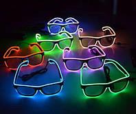 Очки неоновые Flashing Nigt Glasses Darkened