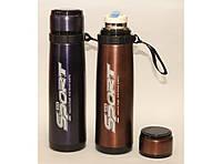 Термос Т67, Термос питьевой, Термос с поилкой, Термос 800 мл с ремешком, Термос из нержавеющей стали