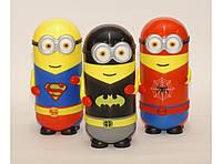 Термос Т62, Термос миньон, Термос супергерой, Миньен- супергерой, Детский Термос, Термос для школы 260мл