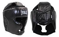 Шлем боксерский с полной защитой EVERLAST BO-4299-BK (черный, р-р регулируется)