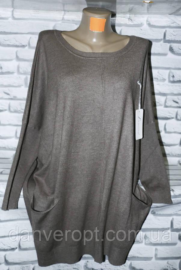 Туника женская модная с карманами размер универсальный 54-62 купить оптом со склада 7км Одесса