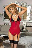 Красный корсет Excellent Beauty Roxana R-605
