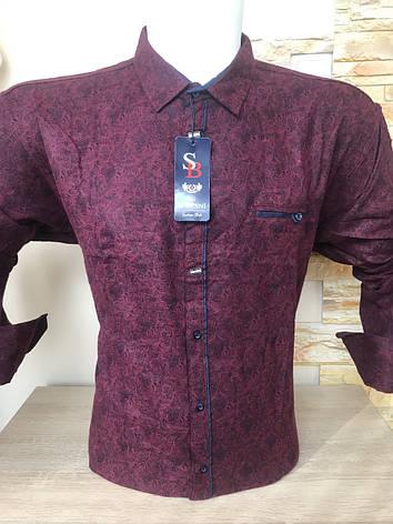 Теплая кашемировая батальная рубашка S.Besni, фото 2