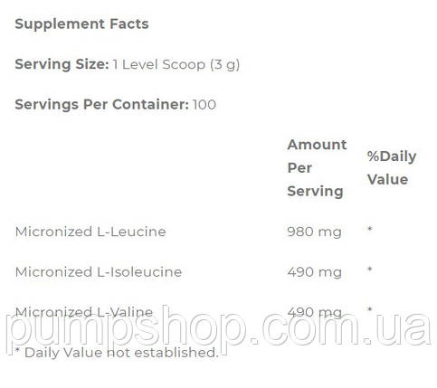 Бцаа Optimum Nutrition Instantized BCAA Powder Unflavored 100 порц. (уценка), фото 2