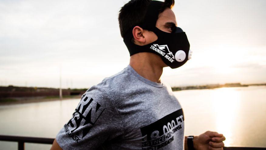 Маска training mask, Маска для занятий спортом, Маска для бега, Маска для выносливости