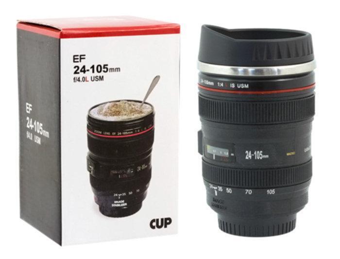 Чашка объектив, Чашка в виде объектива EF 24-105, Чашка в форме объектива, Кружка в виде объектива 295 мл
