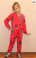 Комбинезон махровый детский теплый красный р. 32-40