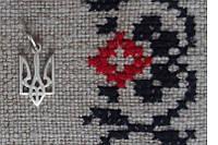 Срібний кулон «Тризуб», Розмір кулона: 0.8х1.4см.