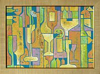 Картина абстракция купить Бокалы