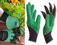 Перчатка с когтями для сада Garden Genie Gloves, Садовая перчатка, Перчатки рабочие с когтями, Перчатки Гарден, фото 1