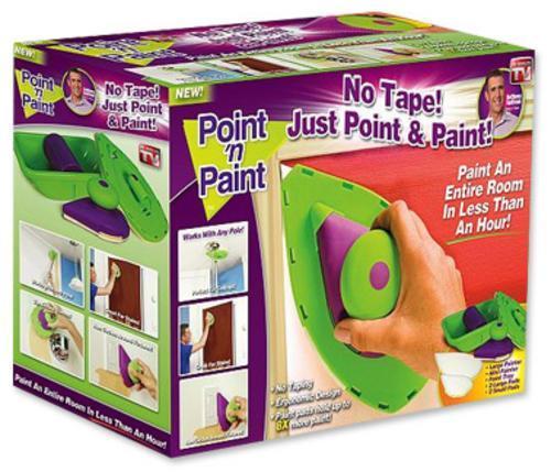 Пойнт энд Пейнт (Point'n Paint) губка для нанесения краски, Губка малярная, Инструмент для нанесения краски
