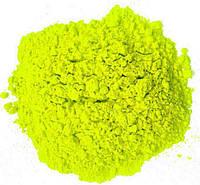 Фарба Холі (Гулал), Лимонна, фасування 75 грам, суха порошкова фарба для фествиалів, флешмобів, фото, фото 1