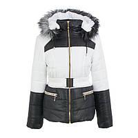 Куртка детская для девочки зимняя-демисезонная Радуга белая/черная зима/осень/весна 134,140,146,152,158см
