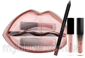 Стойкие помады + карандаш для губ Huda Beauty Matte & Cream Lip Set VENUS/DAY SLAYER