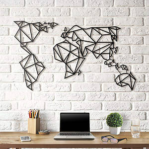 Картина из дерева Decart Map Earth 60х100 см ME1001