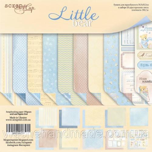Набір двостороннього паперу - Little Bear - Scrapmir - 30x30