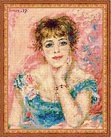 """Набор для вышивания """"Портрет Жанны Самари,по мотивам картины Ренуара"""""""