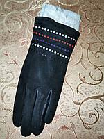 Замш-натуральная с кролик женские перчатки только оптом, фото 1